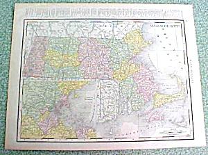Antique Map Massachusetts 1916 Rand McNally Nice Colors (Image1)