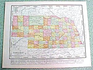Antique Map Nebraska 1916 Rand McNally (Image1)