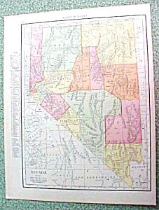 Antique Map Nevada 1916 Rand McNally (Image1)