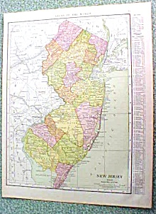 Antique Map New Jersey 1916 Rand McNally (Image1)