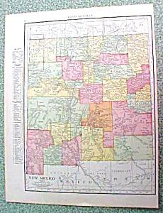 Antique Map New Mexico 1916 Rand McNally (Image1)