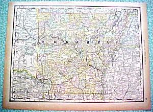 Antique Map Arkansas 1890 Rand McNally (Image1)