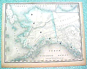 Antique Map Alaska dtd 1890 Rand McNally (Image1)