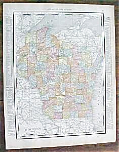 Map Wisconsin Minnesota 1912 Rand McNally (Image1)