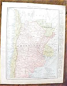 Map Argentina Chile Ecuador Peru 1912 (Image1)