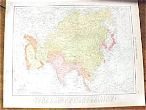 Map Asia & Turkey 1912