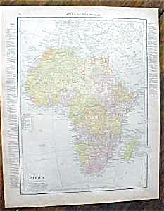 Map Africa & South Africa 1912
