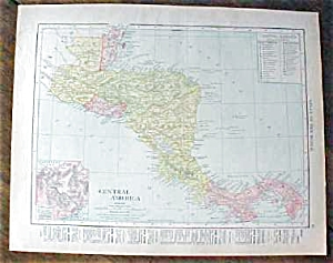 Map Central America Panama 1912