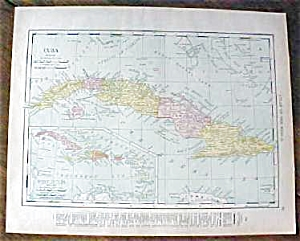 Map Cuba West Indies South America 1912
