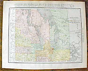 Antique Map Manitoba Maritime Provinces 1912
