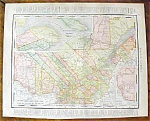 Antique Map Quebec Ontario 1912 (Image1)
