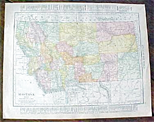 Antique Map Montana Idaho 1912