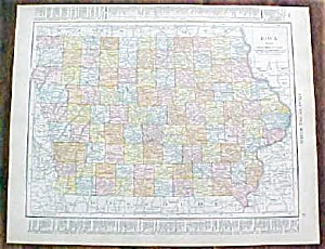 Antique Map Iowa Missouri 1912 Rand McNally (Image1)