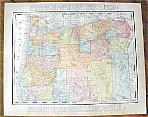 Antique Map Oregon Washington 1912 (Image1)