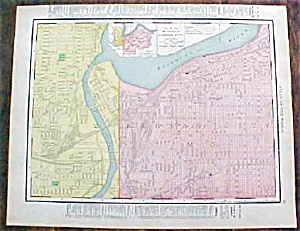 Antique Map Arkansas & Kansas City 1912 Rand