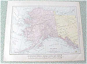 Antique Map Alaska Canada 1912 Antique (Image1)