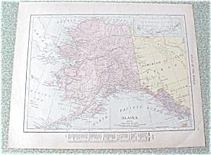 Antique Map Alaska Canada 1912 Antique (Image1)