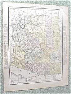 Antique Map Arizona Nevada 1912 Antique (Image1)
