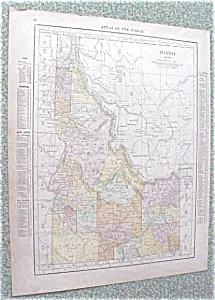 Map Idaho Montana 1912 Antique (Image1)