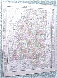 Map Mississippi Kentucky Tennessee 1912 Antique (Image1)