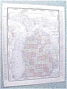 Map Michigan Detroit 1912 Antique