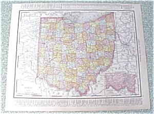 Map Ohio Cincinnati 1912 Antique (Image1)