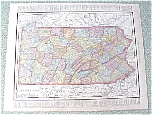 Map Pennsylvania Philadelphia 1912 Antique (Image1)