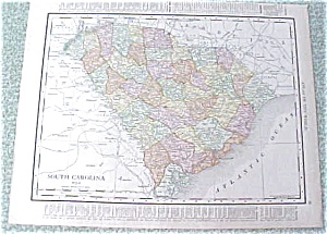 Map South Carolina Georgia 1912 Antique (Image1)