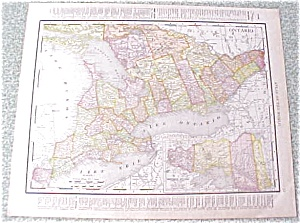 Map Ontario Quebec 1912 Antique (Image1)