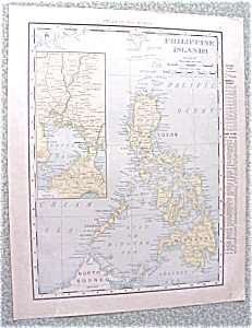 Map Philippine Islands 1912 Antique Luzon (Image1)