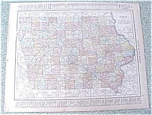 Map Iowa Missouri 1912 Antique (Image1)