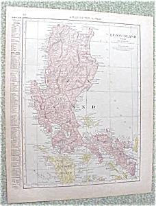 Map Luzon Island Hawaii 1912 Antique (Image1)