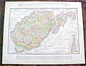 Map West Virginia North Carolina 1912