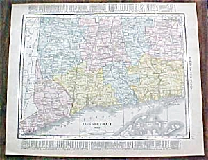 Map Connecticut New York 1912
