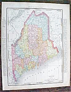 Map Maine New Hampshire 1912