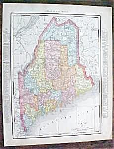 Map Maine New Hampshire 1912 (Image1)