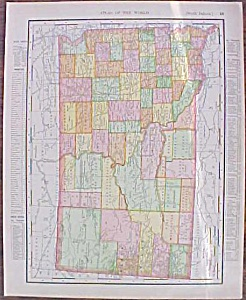Map North & South Dakota 1907 Rand Mcnally