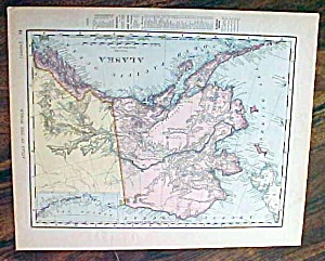 Antique Map Alaska & Canada 1907 Rand McNally (Image1)