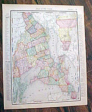 Antique Map Ontario & Quebec 1907 Rand McNally (Image1)