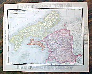 Antique Map Nova Scotia & Manitoba 1907 Rand McNally (Image1)