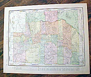 Antique Map Nova Utah & Wyoming 1907 Rand McNally (Image1)