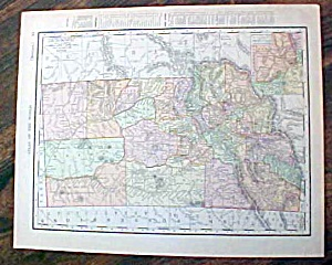 Antique Map Nova Idaho & Montana 1907 Rand Mcnally