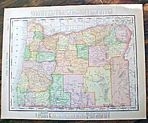 Antique Map Washington & Oregon 1907 Rand Mcnally
