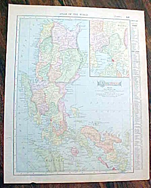 Antique Map Luzon Island Manila 1907 Solar System