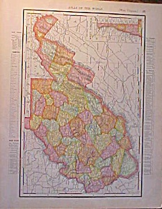 Antique Map West Virginia & North Carolina 1907 Rand (Image1)