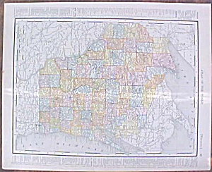 Map Wisconsin & Minnesota 1907 Rand Mcnally