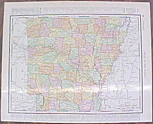 Map Arkansas & Kansas City 1907 Rand Mcnally