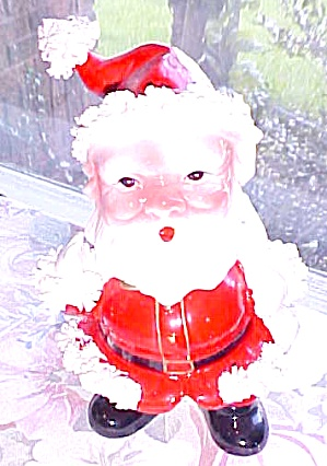Spaghetti Santa Bobble Head Planter Vintage (Image1)