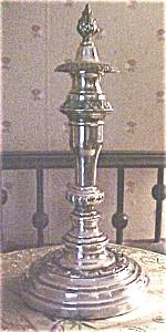 Silver Candlestick Sheffield + Snuffer Cap (Image1)