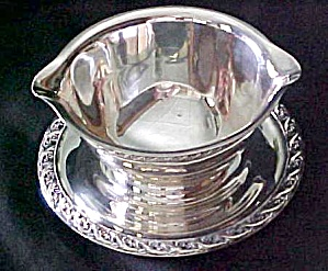Silver Plated Gravy Sauce Boat Server